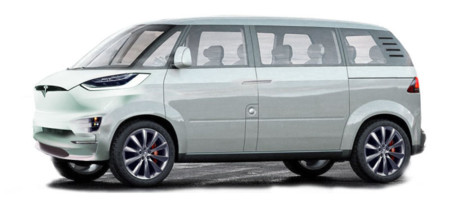Tesla Minibus By Jason Torchinski