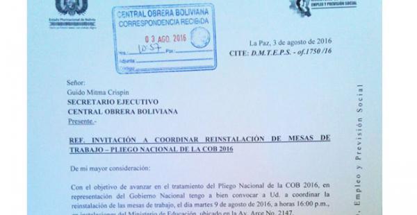 Esta es la carta que ha difundido el Ministerio de Trabajo a través de su cuenta en Twitter