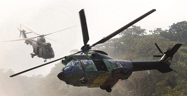 El equipamiento militar de la era Morales se puso en acción en el ejercicio de Chimoré