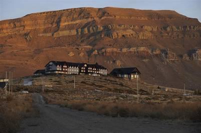 El hotel Alto Calafate, de la familia Kirchner. (Maxi Failla)