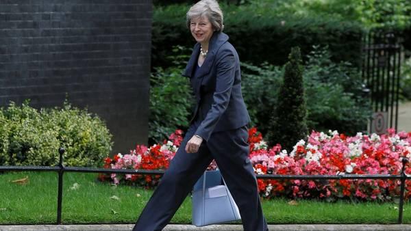 Theresa May, primera ministra de Gran Bretaña. AP.