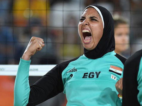 La jugadora egipcia de voley playa Doaa el Ghobashy. Foto: time.com