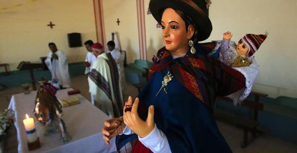 La imagen de la virgen está en la capilla del barrio de Ventilla, de El Alto