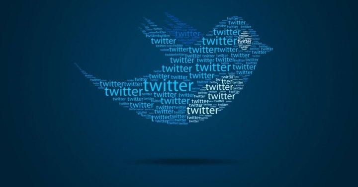 Twitter logo con letreros