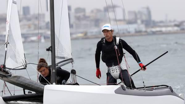 Sin amarras. Cecilia y el gran Lange, en la Marina da Gloria carioca. (EFE)
