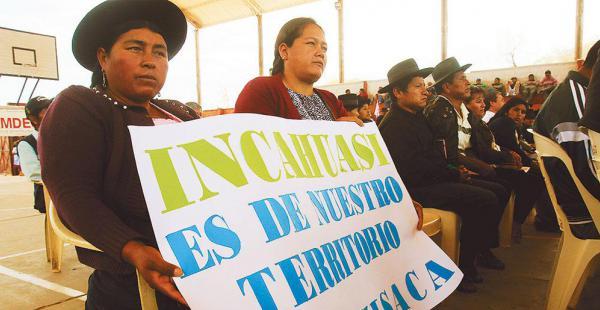 En Muyupampa las autoridades chuquisaqueñas rechazaron el trabajo técnico de los canadienses