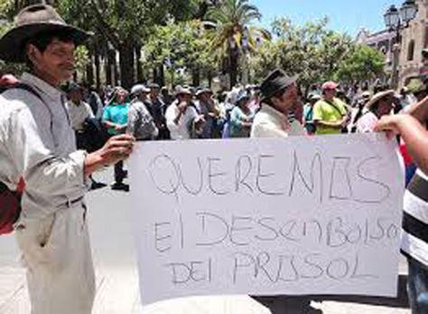 Protesta campesina en Tarija por el Prosol