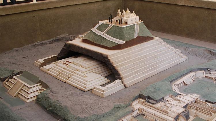 La Gran Pirámide de Cholula. Maqueta.