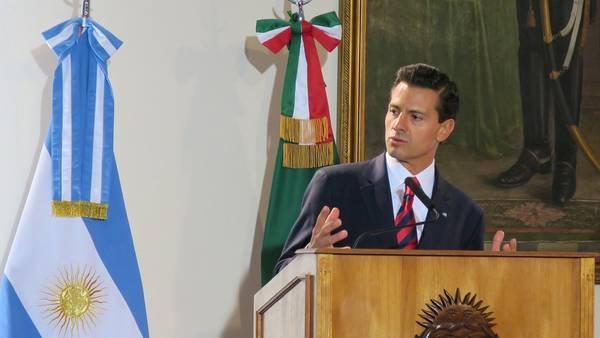 Enrique Peña Nieto, durante un foro económico en Buenos Aires, en julio. / EFE