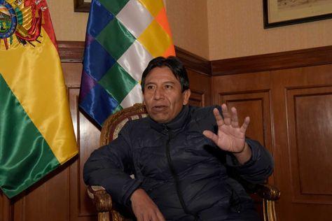 El canciller David Choquehuanca durante la entrevista con La Razón. Foto: Ángel Illanes