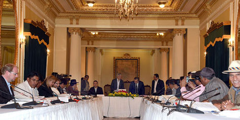 La reunión del Consejo Nacional de Autonomías (CNA) que se desarrolló en diciembre de 2015.