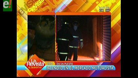 Se registra incendio en una caseta del mercado Mutualista