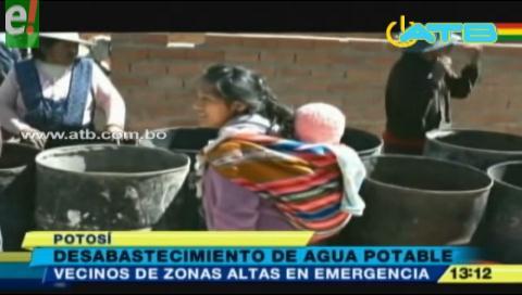 Potosí sufre desabastecimiento de agua potable por la sequía