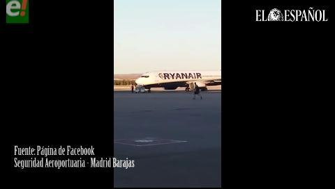 España: Boliviano salta a la pista del Aeropuerto de Barajas para perseguir su avión
