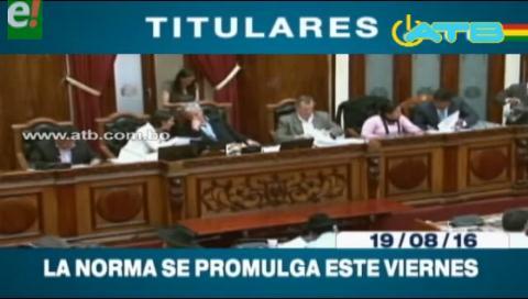 Titulares de TV: Hoy se promulga la norma que modifica la Ley de Cooperativas