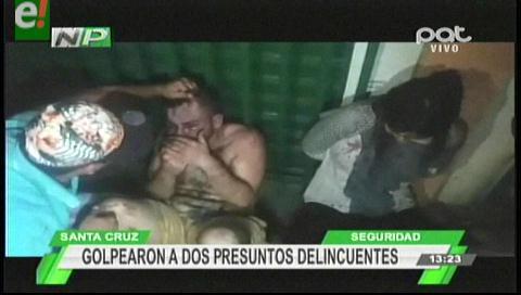 Vecinos golpearon a presuntos delincuentes