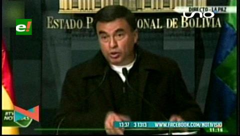 Quintana lamenta contradicciones de Patzi y dice que la huelga no es la vía para resolver problemas