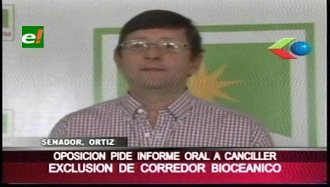 Piden aclarar situación de Bolivia sobre el Corredor Bioceánico