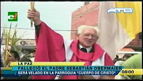 Muere el padre Sebastián Obermaier, El Alto llora
