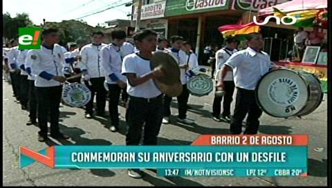 Estudiantes adelantan festejo por el 6 de agosto