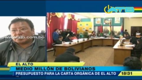 El Alto cuenta con Bs 500.000 para la elaboración de su carta orgánica