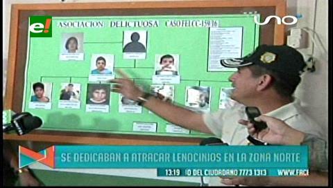 Desarticulan banda responsable de violaciones y robos en lenocinios