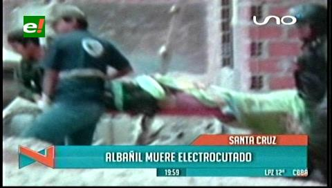 Albañil muere electrocutado en una máquina mezcladora