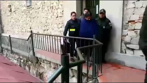 La Paz. Achacollo es trasladada a cárcel de Miraflores, donde se encuentra también Gabriela Zapata