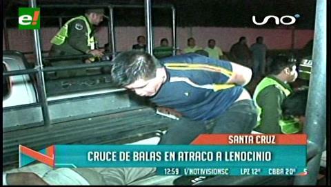 Cruce de balas en atraco a lenocinio en Santa Cruz