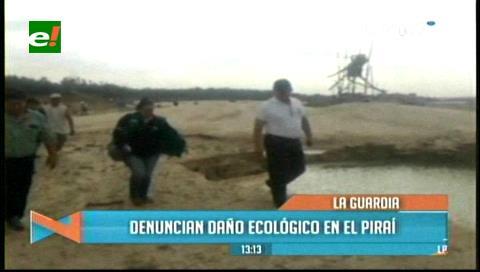 Inspeccionan el Piraí en la zona de La Guardia