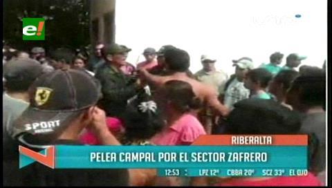 Riberalta: Pelea campal entre zafreros por la dirigencia