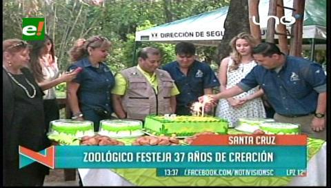 Festejan a lo grande el 37 aniversario del Zoológico de Santa Cruz
