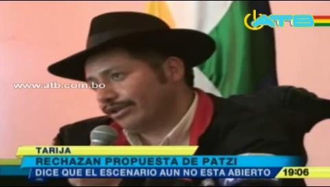Urquizu rechaza propuesta de Patzi sobre el pacto fiscal