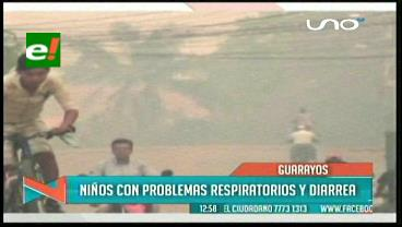 Guarayos: Suspenden las clases por la densa humareda