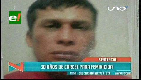 Feminicida recibe pena de 30 años de cárcel