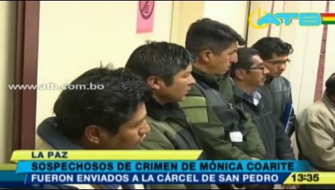 La Paz: Envían a la cárcel a los acusados de la muerte de Mónica Coarite