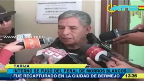 Reo de la cárcel de Tarija intentó fugarse