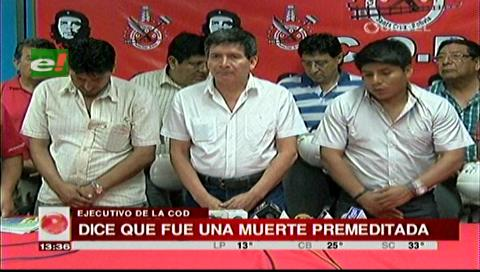 COD afirma que muerte de Illanes fue premeditada y acusa a la oposición
