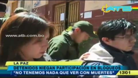 Mineros detenidos niegan participación en bloqueos
