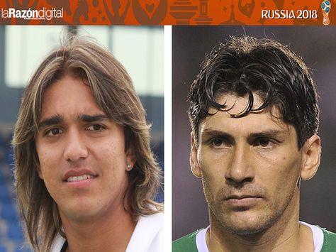 Marcelo Martins (izq.) y Ronald Raldes de la selección boliviana.