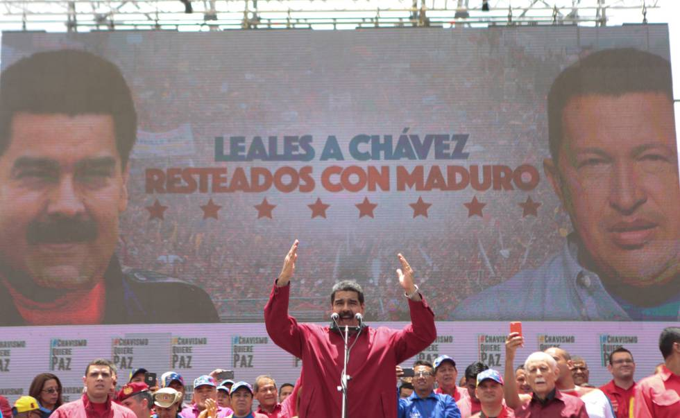 Nicolas Maduro en un evento en Caracas.