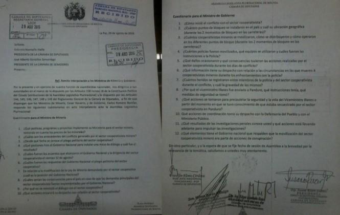 De 22 preguntas de la interpelación, solo 2 se refieren al asesinato de Illanes y una a la muerte de mineros
