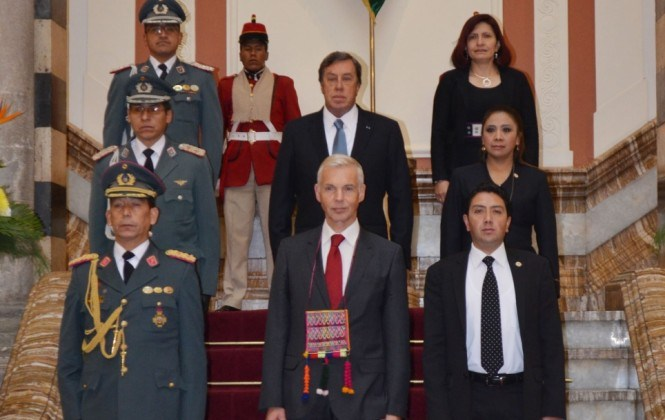 Embajadores de cuatro países presentaron sus cartas credenciales al presidente Evo Morales