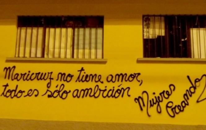 Concejala de La Paz rechaza grafitis contra la esposa del alcalde