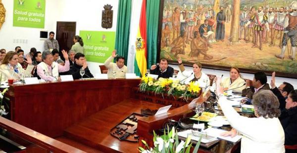 El Concejo Municipal de Santa Cruz de la Sierra declaró improcedente la petición de informe oral contra el alcalde Percy Fernández