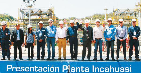 reservas de hidrocarburos el nuevo megacampo repone la declinación de san alberto Ayer, el presidente Evo Morales y ejecutivos de Total y Gazprom celebraron en Incahuasi