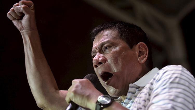 El presidente de la República de Filipinas, Rodrigo Duterte