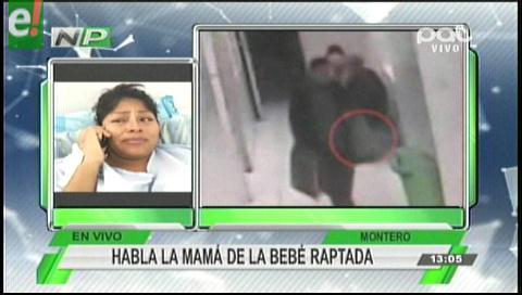 Madre de la bebé raptada en Montero pide ayuda