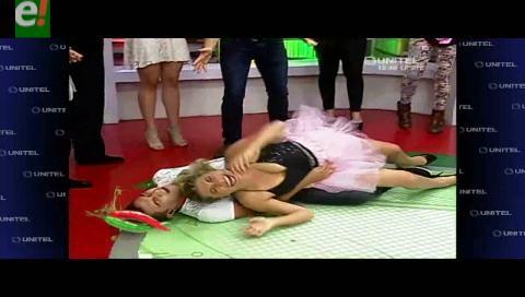 Mira otra caída de Grisel Quiroga con Ronald Arnez