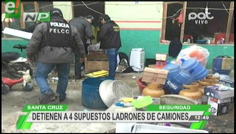 Detienen a cuatro supuestos ladrones de la organización criminal los Paracaidistas